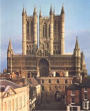 Picture courtesy of the Lincoln Cathedral guidebook, 1982.